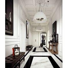 Hall de um apartamento lindo em Paris. Fico imaginando o interior desse apartamento. Puro luxo!!!!!