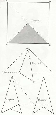 how to do initial fold for snowflakes diagram
