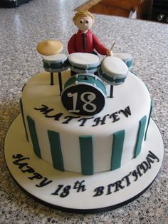 Awesome Photo Of Drum Birthday Cake Kit Cakecentral