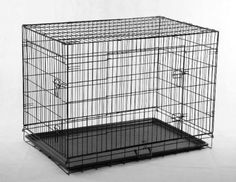 24' Pet Folding Dog Cat Crate Cage Kennel w/ABS Tray LC ** Startling review available here  : Dog cages