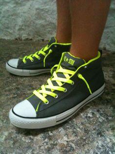 Neon Converse!!!!!!!!!!!!!!