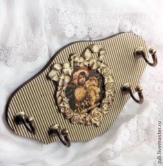 """Прихожая ручной работы. Ярмарка Мастеров - ручная работа Вешалка для юной леди """"Полосатое эстетство"""". Handmade."""