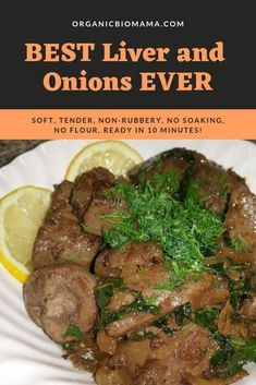 Best Liver and Onions in 10 Minutes without Flour & No soaking! – organicbiomama Best liver and onions in 10 … Onion Recipes, Lamb Recipes, Cooking Recipes, Healthy Recipes, Fried Liver, Beef Liver, How To Cook Liver, How To Cook Beef, Cooking With Ghee