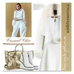 """""""Casual chic in white"""" by drn57 ❤ liked on Polyvore featuring WithChic, Roland Mouret, Chicwish, Ralph Lauren, JY Shoes, Dorothy Perkins and winterstaples"""