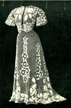 vintage Irish lace gown