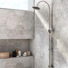 Le gris pour du carrelage hexagonal
