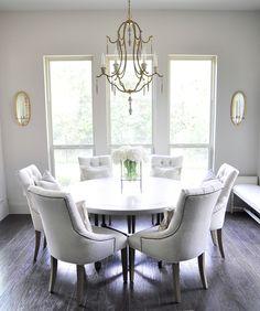 Beautiful Breakfast Round Table Seats Six