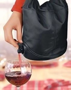 Portable Wine Purse ♥ Wine + Purse = L.O.V.E.!!!
