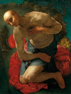 Jacopo Pontormo (1494–1557), St Jerome as Penitent, ca. 1528-29. Oil on poplar, 105 x 80 cm. Niedersächsisches andesmuseum Hannover. Photo: Niedersächsisches Landesmuseum Hannover – ARTOTHEK