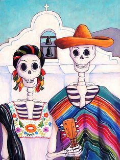 Mexican Gothic Painting  - Mexican Gothic Fine Art Print