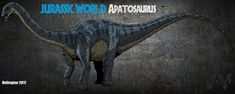 Jurassic World : Apatosaurus by HellraptorStudios