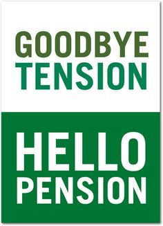 Personalized Greeting Card: Hello Pension, Retirement Card $2.99 http://www.investingtrader.blogspot.com/