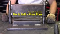 This video will show you how to turn scrap metal into a press brake, using simple shop tools. One essential tool Welding Shop, Welding Tips, Metal Working Tools, Metal Tools, Metal Projects, Welding Projects, Art Projects, Cool Tools, Diy Tools