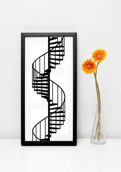 Victorian Winding Staircase - Decal, Sticker, Vinyl, Wall, Home, Office, Playroom Decor  Ask a Question $19.81 AUD