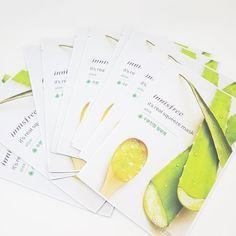 Innisfree It's Real Squeeze Facial Masks Aloe 20ml 3/8/16/35 Sheets Lot Korea #Innisfree