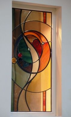 Stained glass portfolio – examples of work by Dave Griffin - Cool Glass Art Designs Stained Glass Door, Stained Glass Designs, Stained Glass Projects, Stained Glass Patterns, Leaded Glass, Mosaic Glass, Mosaic Mirrors, Mosaic Wall, Modern Stained Glass Panels
