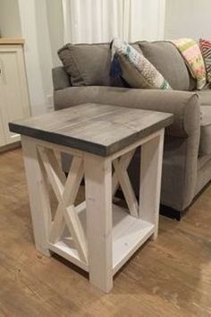 34 Perfect Diy Rustic Coffee Table Design Ideas And Remodel. If you are looking for Diy Rustic Coffee Table Design Ideas And Remodel, You come to the right place. Here are the Diy Rustic Coffee Table. Rustic Coffee Tables, Diy Coffee Table, Coffee Table Design, Rustic Table, Farmhouse Side Table, Design Table, Farmhouse Style, Rustic Wood, Farmhouse Decor