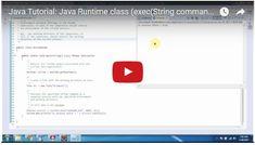 ramram43210,J2EE,Java,java tutorial,java tutorial for beginners,java tutorial for beginners with examples,java programming,java programming tutorial,java video tutorials,java basics,java basic tutorial,java basics for beginners,java basic concepts,java basics tutorial for beginners,java programming language,thread in java,java threads tutorial,java threads,Java Runtime class,runtime class in java
