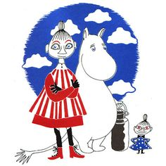 The Book about Moomin, Mymble and Little My: Tove Jansson's Playful and Philosophical Vintage Masterpiece Tove Jansson, Moomin Cartoon, Moomin Shop, Love Illustration, Little My, Cute Characters, Art Techniques, Art History, The Book