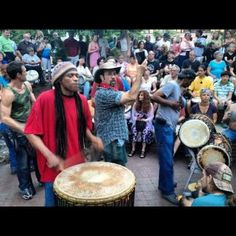 Asheville Drum circle. Building community by making music.