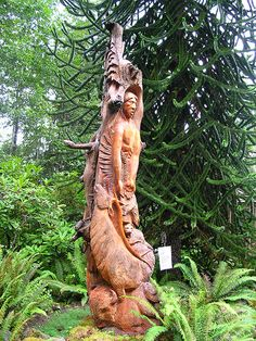 The story (totem) pole was created by artist Conrad Sandoval, ...  the-monad.blogspot.com