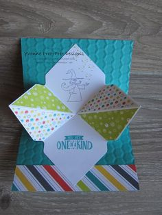 This Pop Out Explosion card is fun and easy to make. I've featured the Bubbles & Fizz DSP and the Magical Day stamp set found in the S/Up 2018 Occasions Catalogue.