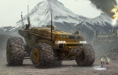 ArtStation - Off World mining, James Finlayson Supercars, Space Engineers, Futuristic Cars, Science Fiction Art, Star Citizen, Armored Vehicles, Sci Fi Fantasy, Sci Fi Art, Monster Trucks