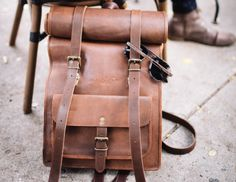 Roll in style with the Leather Rolltop #Backpack by Johnny Fly Co. This classic #leatherbag is big enough for your weekend trips away yet smart enough for the #office