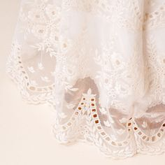 Girls Cotton Christening | Clementine Christening Gown Lace