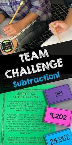 """Teaching subtraction with regrouping can be challenging--and students need a lot of repetition to master it. Check out this """"out of the box"""" activity to practice that standard algorithm in a """"not very standard"""" way! Great for accountable math talk, proble Teaching Subtraction, Subtraction Activities, Teaching Math, Maths, Teaching Ideas, Numeracy, Subtraction Strategies, Math Rotations, Math Strategies"""