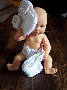 Craft Passions: Diapers for Doll Babies# Free # crochet  pattern l...