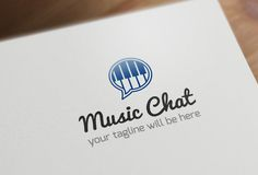 Music Chat Logo Template by Arslan on Creative Market