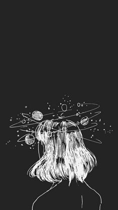 Drawn Space aesthetic landscape 2 - 640 X 1136