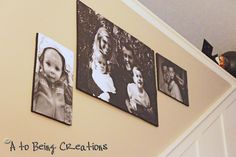Gallery wall! Your own pics blown up and adhered to foam core!