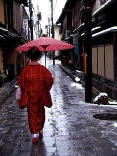 red umbrella by O.T