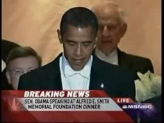 Obama gets the crowd laughing at a 2008 Correspondents' Dinner: I'm sure I saw this when it first came out, but I don't remember. Super funny though.