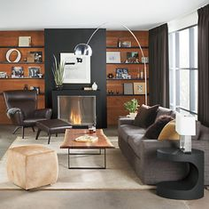 Lind Cowhide Ottomans - Ottomans - Living - Room & Board