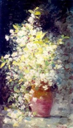 Cherry Blossom by Nicolae Grigorescu Beautiful Flowers Pictures, Wonderful Flowers, Flower Pictures, High Art, Famous Artists, Botanical Prints, Sculpture, New Art, Flower Art