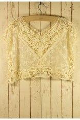 Lace Crochet Smock - sweet. #Chicwish