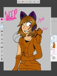 [@lizandfandoms] I'm almost done with the drawing, I didn't have much time to work on it today but hopefully I finish tomorrow. Also I decided to name the ferret Pixel. I liked Pickel it just didn't suit the character's personality enough soo yeah