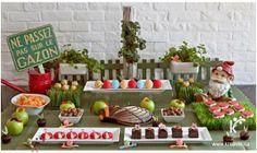 Deliciosa decoracion para fiesta tematica de gnomos   Fiestas infantiles y cumpleaños de niños