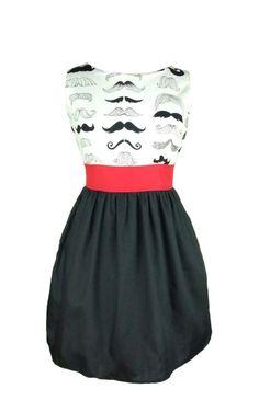 Head Over Heels Mustache Dress
