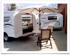 The Utilitoy can be used as a camper or for utility purposes, AND it can be parked in the garage.  Sounds interesting!