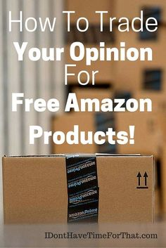 Did you know that you can receive FREE or deeply discounted items just by agreeing to leave a fair un-biased review on Amazon? Its like paying with your opinion and yes it is that easy! Companies need valuable reviews for their products to boost their ran