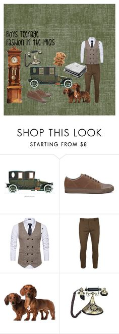 """Boys Teenage Fashion In the 1910s"" by haydenbexley on Polyvore featuring Lanvin, Dsquared2, men's fashion and menswear"