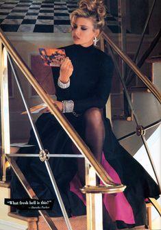 Daniela Pestova featured in Ellen Tracy, January 1992 High Fashion Models, 90s Models, 90s Fashion, Daily Fashion, Vintage Fashion, Versace, 1990s Supermodels, Biarritz, Chanel