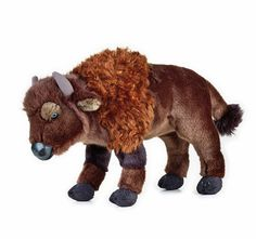 Bison Buffalo soft plush toy by National Geographic