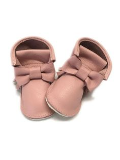 Ankle boots with rubber sole, High top moccasins with bow, Genuine Leather  Mini Boots, Baby Moccasins Shoes with hard rubber sole 192d78aa11b