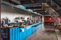 restaurant Pllek. Amsterdam NDSM terrein.