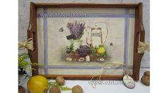Decoupage tutorial for beginners - DIY. How to decorate tray with napkin...